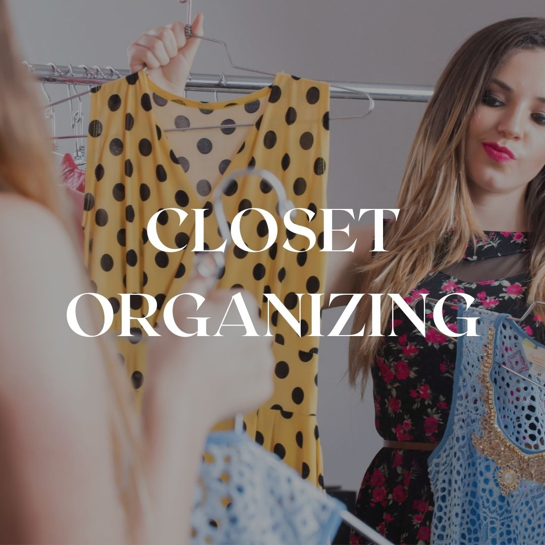 Closet organizing in Florence or online