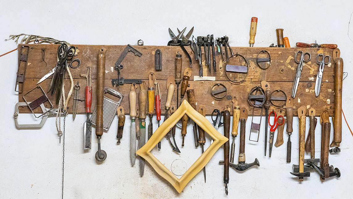The tools of an artisan in Florence