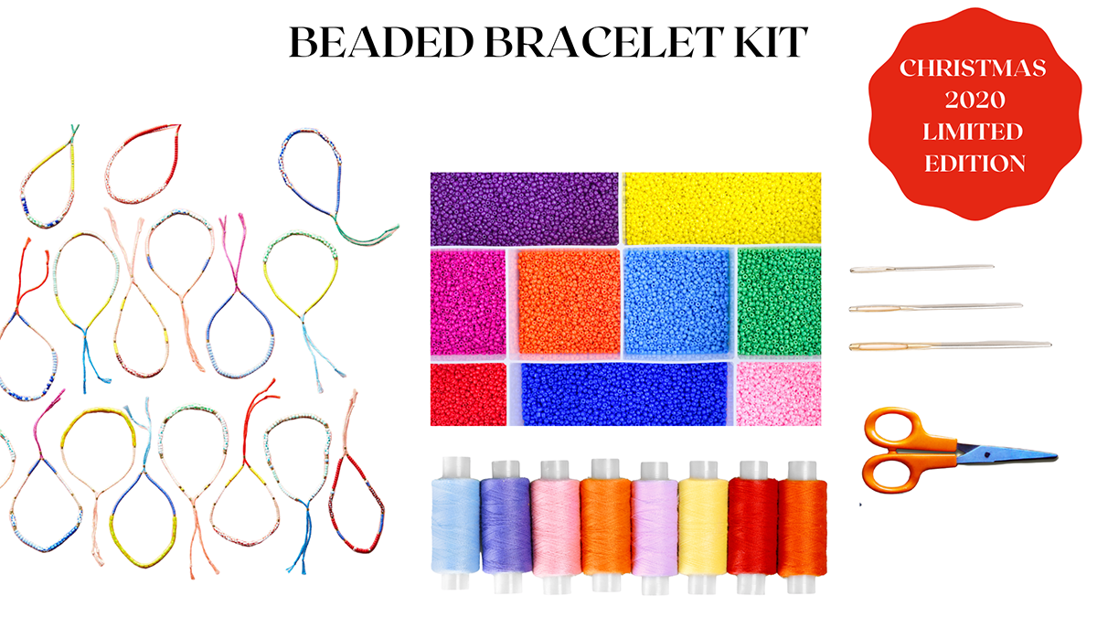 Our beaded bracelet craft kit is fun and easy to do