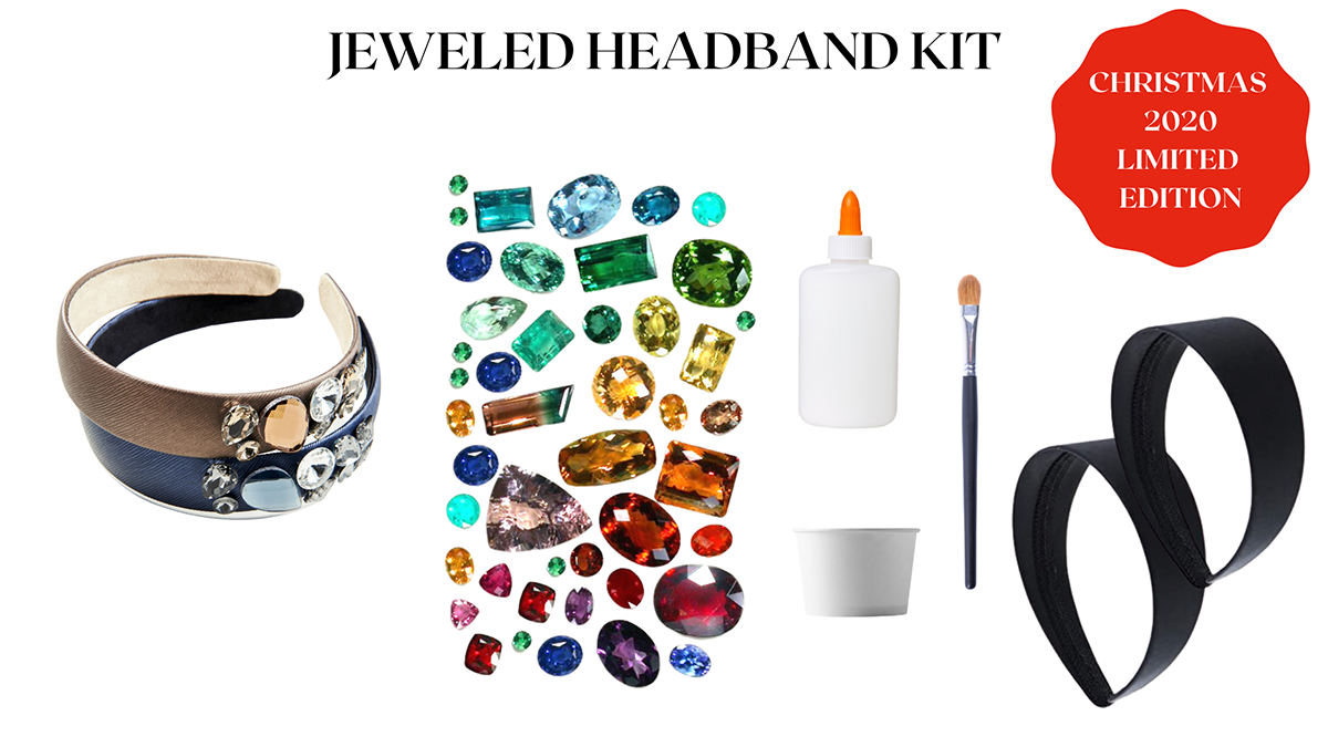 Our jeweled headband craft kit is fun and easy to do