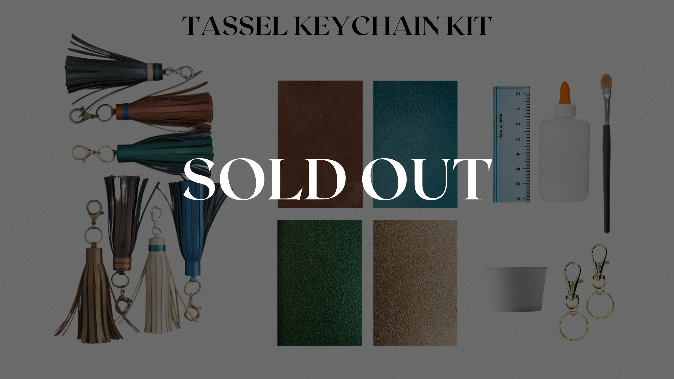 Our leather craft kit is sold out, but you can leave us your email to be alerted for a restock