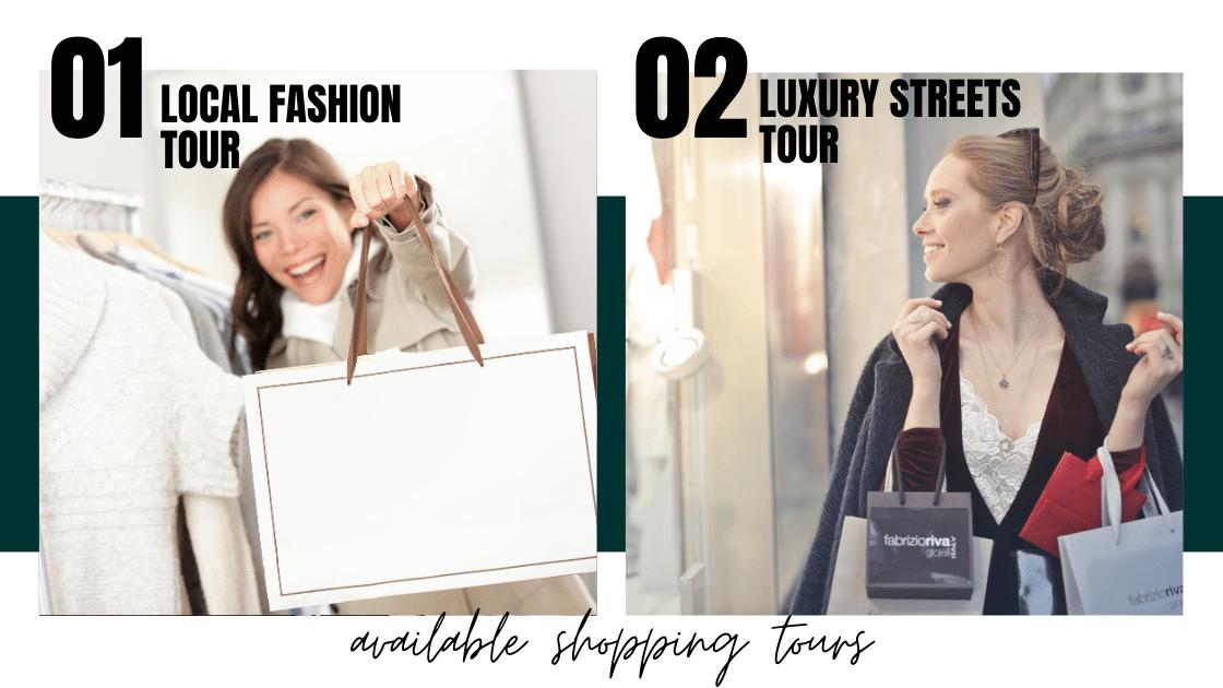 Two women shopping during their tours