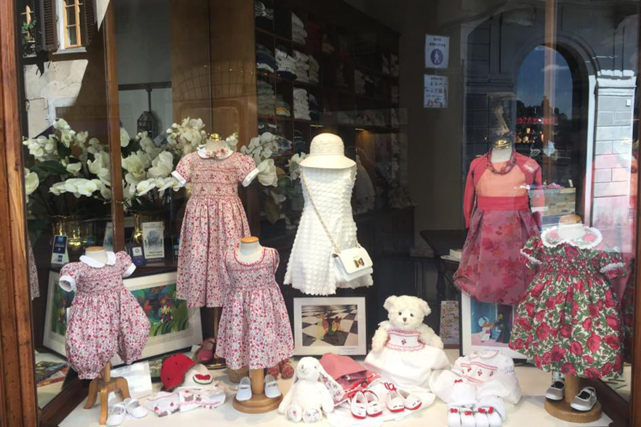 A nice window of the Anichini store in Florence